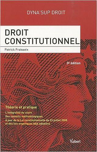 Livre Droit constitutionnel pdf epub