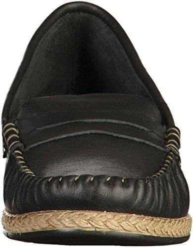 Bequeme modebewusste Slipper 28 Espandrill 1 Sommerschuhe für Schwarz Halbschuhe Frau Optik Schuhe 24643 Tamaris Damen 1 gRXqXB