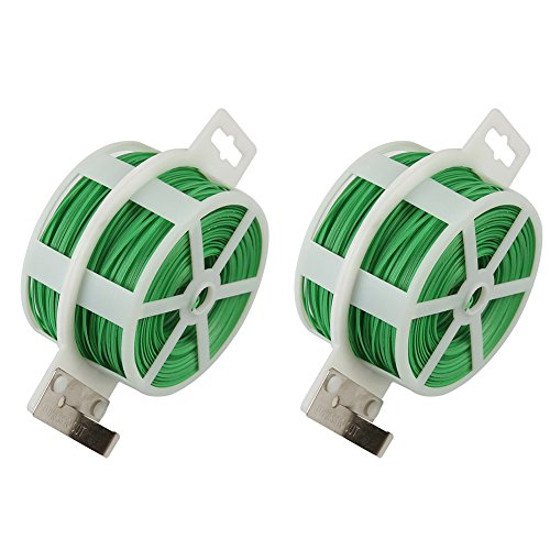 Shintop 2PCS 328 Feet Garden Plant Twist Tie with Cutter for Gardening, Home, Office (Green) by Shintop