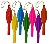 """E-lishine Fun-Filled Balloons Neon Punch Balls with Rubber Band Handle(12 Piece 18"""")-Assorted Colors"""