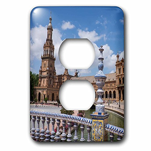 3dRose Danita Delimont - Spain - Spain, Andalusia, Seville. Plaza de Espana scenic. - Light Switch Covers - 2 plug outlet cover (lsp_277897_6) by 3dRose