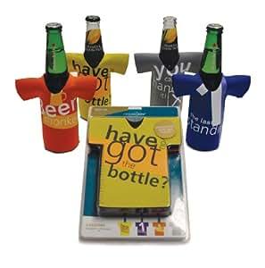 Cellardine - Juego de 4 enfriadores de botellas de cerveza