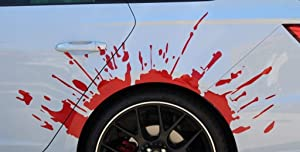 EricauBird Decal-Sticker Blood Splatter foil from Finest, Folia Wheel Arch Wheel Arch Foiling Wall Art