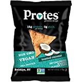 PROTES Vegan Baked Protein Chips | 6 Bags (4 oz.) | 15G of Protein, 120 Calories & Made with Pea Protein | Non GMO & Gluten Free | (Toasted Coconut)