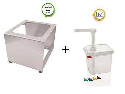 Dispensador de salsa salsas Bomba dispensador con o sin depósito, polipropileno, Spender 2,