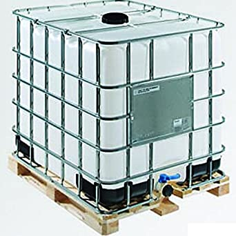 ZA 275 Gallon IBC Tote with Wood Pallet & Metal Cage