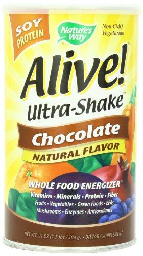 Nature's Way Alive Soy Shake, Chocolate, 1.3 Pound - Alive Multivitamin Ultra Shake