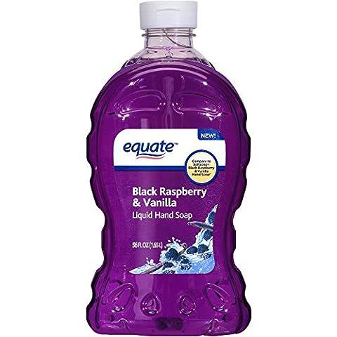Equate Washes away bacteria with Black Raspberry & Vanilla Scented Liquid Hand Soap, 56 fl oz (Meyers Hand Soap Radish)
