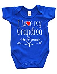 Dirty Fingers, I Love my Grandma this much, Novelty Baby Bodysuit