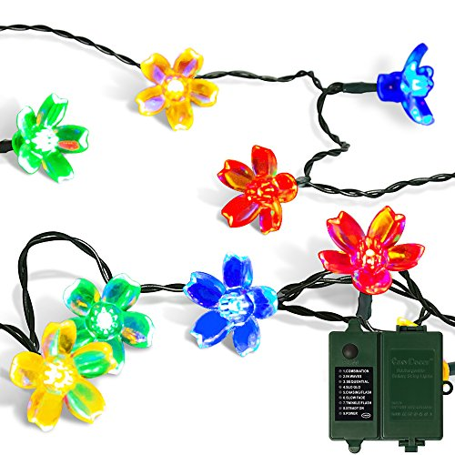 100 Multi Coloured Led Fairy Lights On Clear Cable - 6