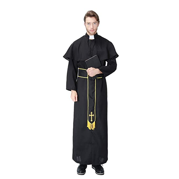 Amazon.com: QZ Mens Adults Vicar Priest Clergyman Church ...