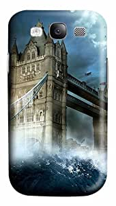 London Tower Bridge Wave PC Case Cover for Samsung Galaxy S3 I93003D