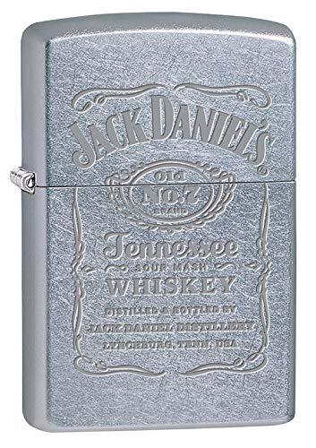 Zippo Lighter: Jack Daniels Engraved Logo - Street Chrome 79632 ()