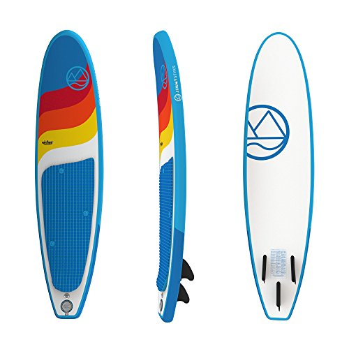 Jimmy Styks AirSurf 8' Longboard   Surfboard   8' Long, 22.5'' Wide, 3.2'' Thick Inflatable Surfboard - Blue   Includes Pump, Coiled Safety Leash, Carry Bag and Repair Kit by Jimmy Styks