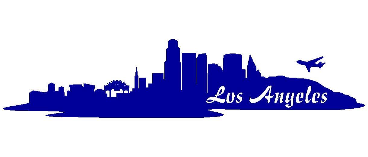Samunshi® Aufkleber Los Angeles Skyline Autoaufkleber LA in 9 Größen und 25 Farben (180x39cm kupfermetalleffekt) B01B9AH3TK | eine breite Palette von Produkten