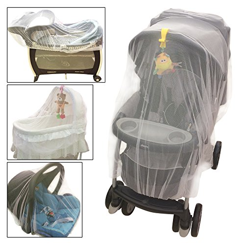Crocnfrog Mosquito Net for Baby Stroller, Crib, Pack and Play, Bassinet, Playpen | Mosquiteros para Cunas De Bebes | Large, Elastic, and Breathable ()