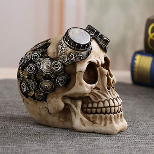 YOTATO Halloween Decoration Resin Skull Statue Bloody Terror Sculpture Home Pub in Halloween Modern Caveira Crafts]()
