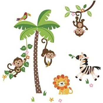 CherryCreek Decals Jungle Monkeys Giant Peel & Stick Wall Sticker Decal