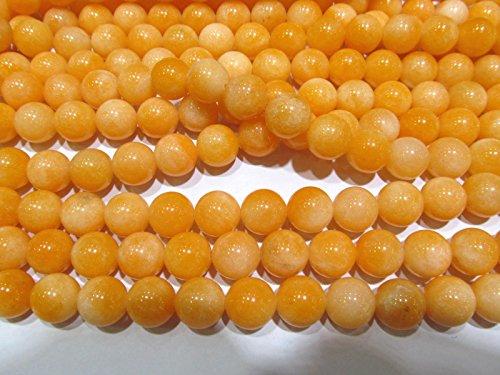 (12mm Fire Cracker Jade Gemstone oranger yellow Round Ball Loose beads 16inch full)