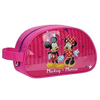 Disney Mickey & Minnie Party Neceser de Viaje, 3.36 Litros, Color Rosa
