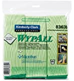 """Kimberly-Clark Professional KIM83620 WYPALL Cloths with Microban Microfiber 15-3/4"""" x 15-3/4"""" Blue 6/Pack,"""