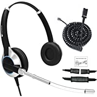 Deluxe Double Ear Headset With Noise Reduction Voice Tube with adapter For ALL Cisco 6000, 7800 and 8000 series phones and also models 7931 7940 7941 7942 7945 7960 7961 7962 7965 7970 7975