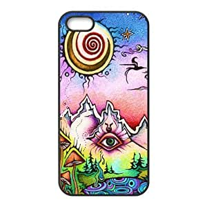 Funny Trippy Protective Rubber Back Fits Cover Case for iPhone 5 5s hjbrhga1544