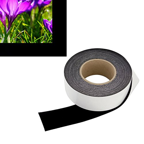 2 in x 30 ft - Vibrancy Enhancing Projector Felt Tape Border - by ConClarity – Deepest Black Ultra High Contrast Felt Tape for DIY Projector Screen Borders Absorbs Light, Brightens Image & Stops Ble
