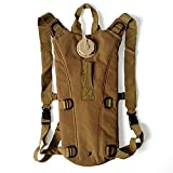 Hydration Pack Backpack with 3L Water Bladder, Water Rucksack Drinking Bag for Cycling Bicycle Bike Hiking Travel Climbing and Other Outdoor Sports - Khaki