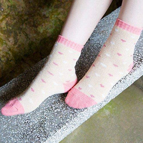 JOYCA & Co. 3-5 Pairs Womens Multicolor Fashion Warm Wool Cotton Thick Winter Crew Socks (Tiny Love) by JOYCA & CO. (Image #2)