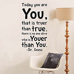 Dr.Deuss Today You Are You Quote Removable Wall Stickers Home Art Decor Decal Love Kids Bedroom