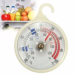 -30-50°C/-20-120°F Hanging Hook Mounted Fridge Freezer Thermometer Kitchen Tools