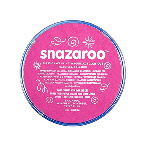 Snazaroo 1118058 Classic Face Paint, 18ml, Bright Pink -