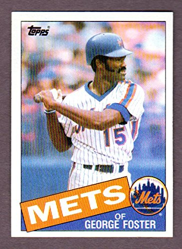 George Foster 1985 Topps Card (Reds) (Mets)