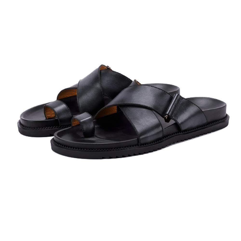 Sommer Mann Sandelholze und Pantoffel Im Freien und Rutschfeste Strand Schuhe Art und Freien Weise Beiläufiges Breathable schwarz 6f4ec3