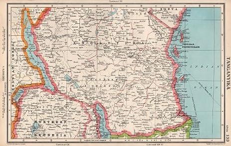 Amazon tanganyika south tanzania zanzibar protectorate south tanzania zanzibar protectorate bartholomew 1952 old map antique gumiabroncs Image collections