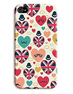 English Hearts Case for your iPhone 4/4s