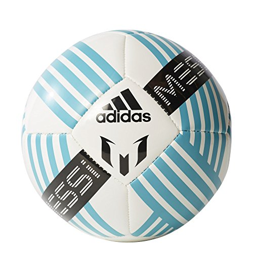 adidas Performance Messi Soccer Ball, White/Energy Blue/Black, Size 1