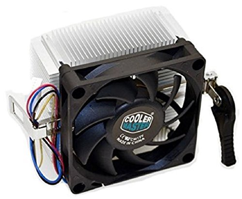 Cooler Master AMD Socket FM2 / FM1 / AM3 / AM2 / 1207/940 / 939/754 4-Pin Connector CPU Cooler with Aluminum Heatsink & 2.75-Inch Fan with Pre-Applied Thermal Paste for Desktop PC Computer (TS39) ()