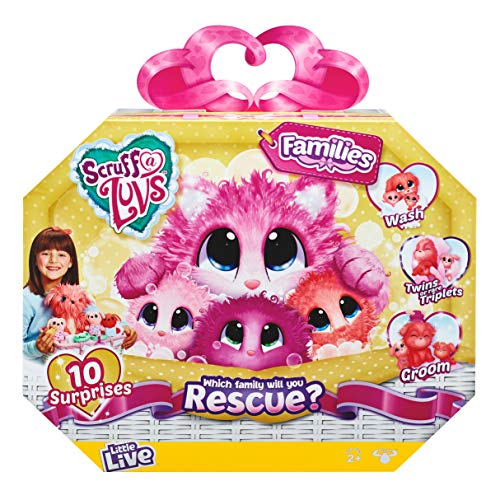 Little Live Pets Scruff-A-Luvs Family | Wash, Dry and Brush to Rescue and Reveal 10 Surprises