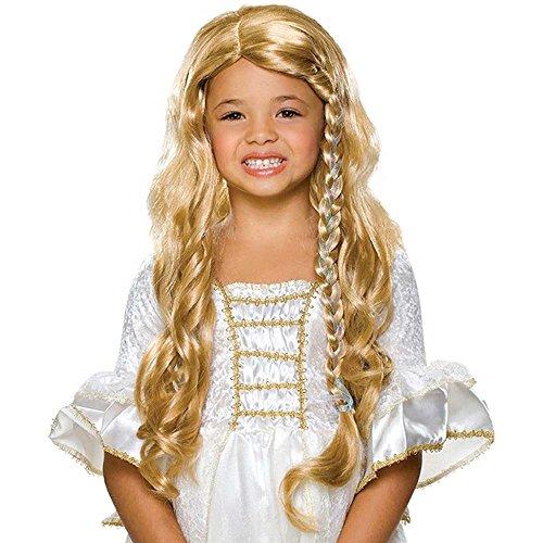 [Child Glamorous Princess Blonde Wig] (Goldilocks Costume For Kids)