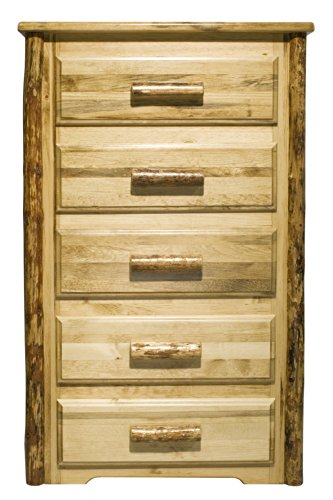 Montana Woodworks Glacier Country 5-Drawer Chest of Drawers - Log Vanity