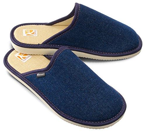 Casa Azul Pantuflas Memoria Zapatillas Vaquero Suela 40 De Marrón Hombre RT55qSw