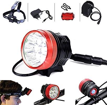 Yober LED Faros Luces Delanteros de Bicicleta Headlight Linternas ...