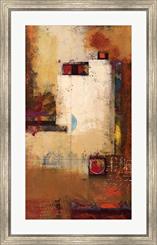 (Reverate Universale I by Pietro Adamo Framed Art Print Wall Picture, Silver Scoop Frame, 26 x 40 inches)