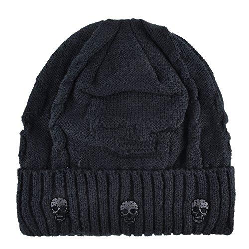 KISSBAOBEI Unisex Men Women Skull Knitted Beanie Hats Cap for Winter - Beanie Hat Cool