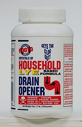 New Professional ROOTO Crystals of Household 100% Lye Drain Opener 16oz 1 lb Sinks Tubs #1030
