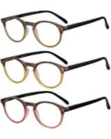 Reading Glasses Set of 3 Great Value Readers Spring Hinge Glasses for Reading Men and Women