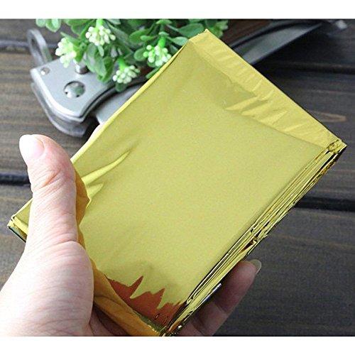 Ndier - Manta de emergencia, manta térmica, manta térmica para protección del calor, multifunción, manta de primeros auxilios, color dorado, 210 x 130 cm 7