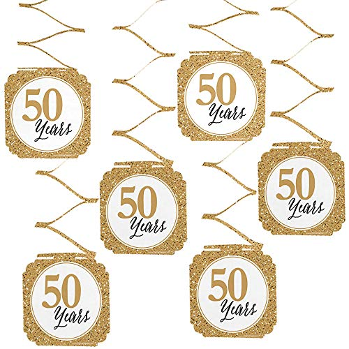 (Big Dot of Happiness We Still Do - 50th Wedding Anniversary Party Hanging Decorations - 6 Count)